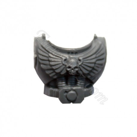 Torso with skull and wings