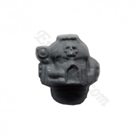 Head with skull and optic