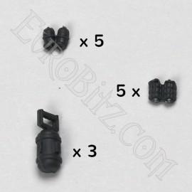 Grenades offensives, défensives et bombes à fusion
