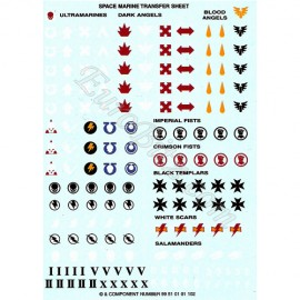 Space Marines Transfers Sheet