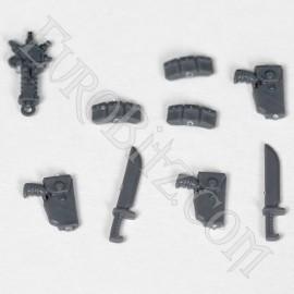 Pack d'accessoires de l'escouade de commandement space marine 2