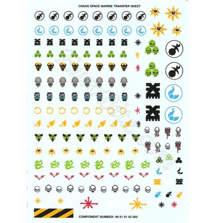 Chaos Space Marines Transfers Sheet A