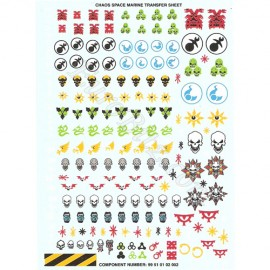 Chaos Space Marines Transfers Sheet B