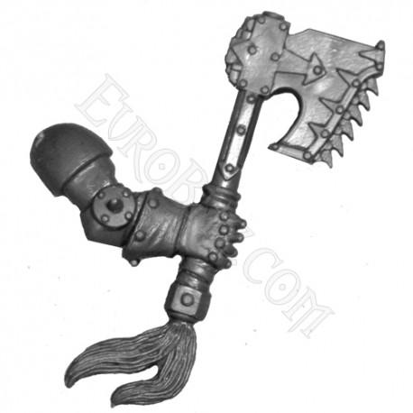 Chain Axe right arm Khorne's Berserkers