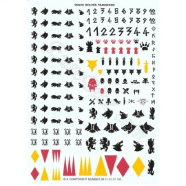 Transfert sheet for Space Wolves