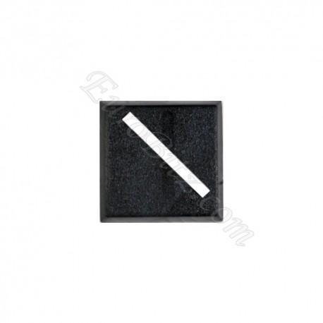 Socle carré 20mm diagonale vide