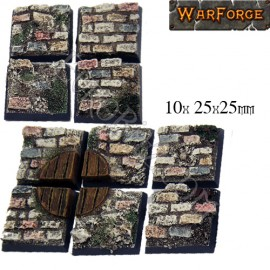 Cobblestone bases 25mm x10