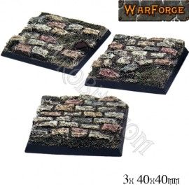 Cobblestone bases 40mm x3