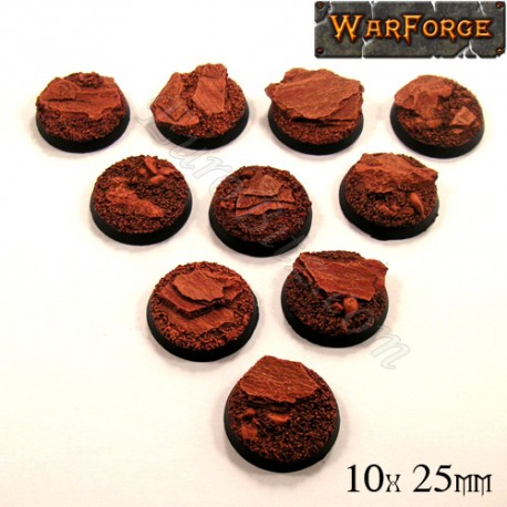 Rocky Bases 25mm x10