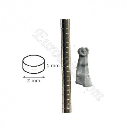 Magnet 2mm / 1mm x20 Cylinder