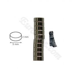 Magnet 5mm / 2mm x10 Cylinder
